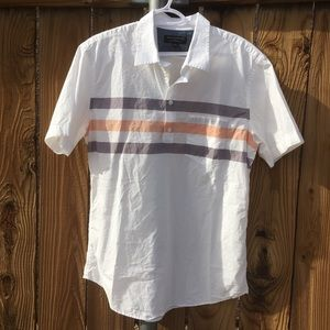 BR retro soft wash cotton polo tee men's large